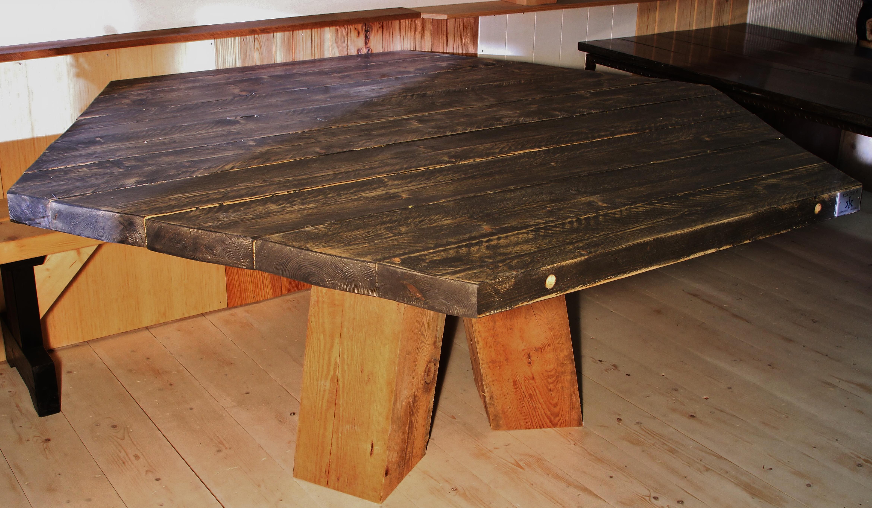 Zes hoekige tafel